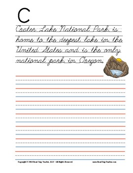 National Parks Handwriting Printables (Cursive Edition)