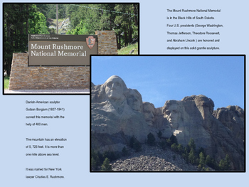 National Parks Power Point (includes information and original photographs)