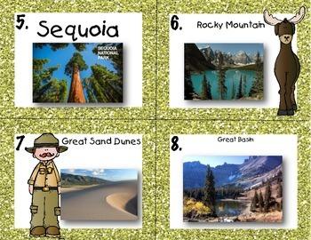 National Parks Quiz-Quiz-Trade