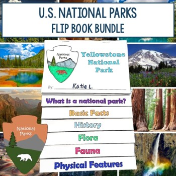 National Parks Research Flip Book Foldables