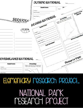 National Parks Research Project -- (Yosemite, Acadia, Glacier Bay...)