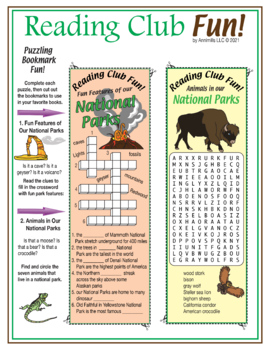 National Parks Two-Page Activity Set and Crossword Puzzle