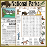 National Parks Two-Page Activity Set, Vocabulary Word Search, Crossword Puzzles
