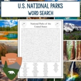 National Parks Word Search