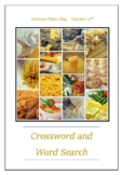 National Pasta Day - October 17th Crossword Puzzle Word Search Bell Ringer
