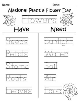 National Plant a Flower Day printables
