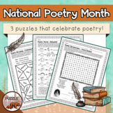 National Poetry Month Puzzles