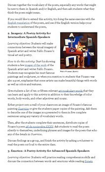 National Poetry Month Spanish Class Activities