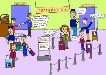 Canadian History Cartoon - National Policy Immigration Cartoon