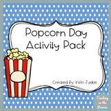 National Popcorn Day Hat Activity Pack