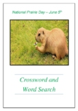 National Prairie Day - June 5th Crossword Puzzle Word Search Bell Ringer
