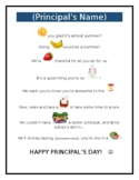 National Principal's Day or Teacher Appreciation Fruit Poem