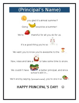 Poems For Principals From Students Pictures to Pin on ...