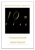 National Punctuation Day - September 24th Crossword Puzzle Word Search Bell Ring