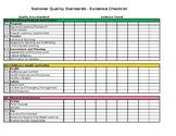 National Quality Standards Evidence Checklist