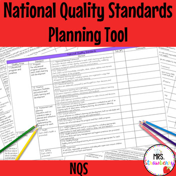 National Quality Standards (NQS) Planning and Assessment Tool