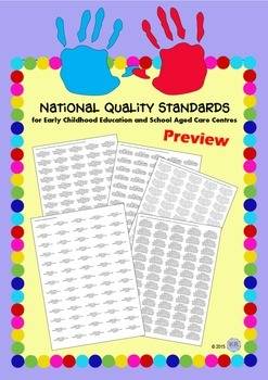 National Quality Standards NQS Stickers Labels for School Aged Care, Early Years