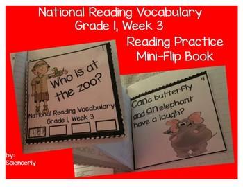 National Reading Vocabulary Mini-Reader--Grade 1, Week 3