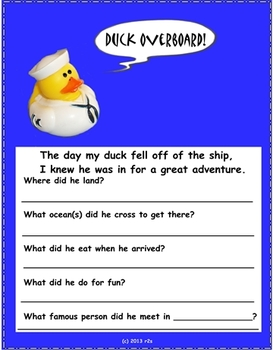 National Rubber Duck Day & Geography Activities for Pre-K-2