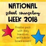 National School Counseling Week 2018 Freebie Pack