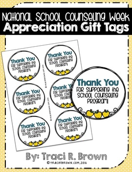 National School Counseling Week Appreciation Gift Tags