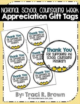 Celebrate School Counselors Week Appreciation Gift Tags