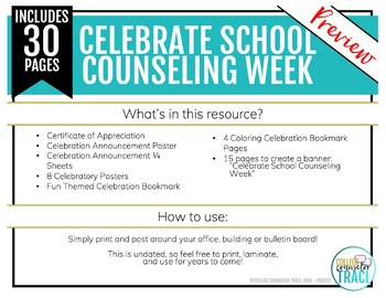 National School Counseling Week (Bundle 4)