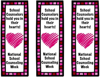 National School Counseling Week Printables - Valentine Theme!