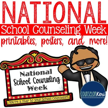 National School Counseling Week Printables - Hollywood Theme!