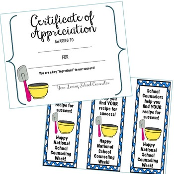 National School Counseling Week Printables - Recipe for Success