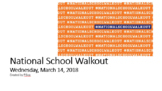National School Walkout 2018