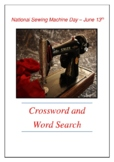 National Sewing Machine Day - June 13th - Crossword Puzzle Word Search Bell Ring