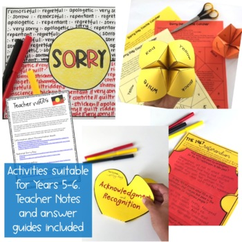 National Sorry Day - Reconciliation Activity Pack - Years 5 & 6