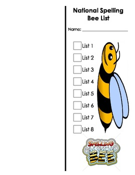 National Spelling Bee Sight Word Book