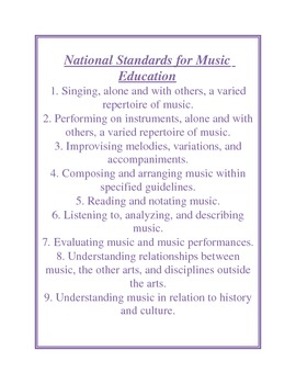National Standards List
