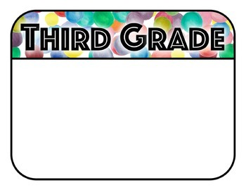 National Standards and I Can Statements - Colorful Confetti Theme