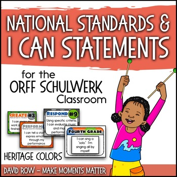 National Standards and I Can Statements for Music - Heritage Color Scheme