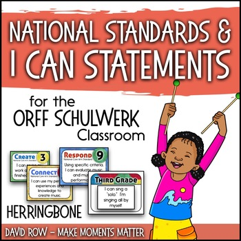 National Standards and I Can Statements - Herringbone Theme