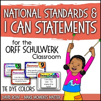 National Standards and I Can Statements - Tie Dye Theme