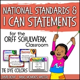 National Standards and I Can Statements for Music - Tie Dye Theme