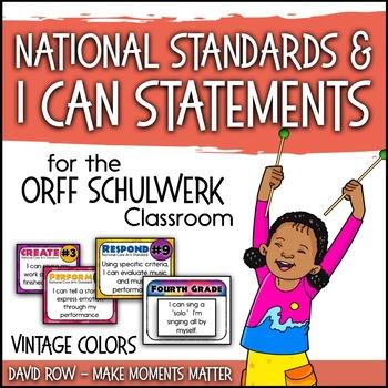 National Standards and I Can Statements - Vintage Color Scheme