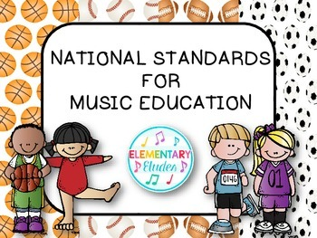 National Standards for Music Education (Sports Theme Decor Set)