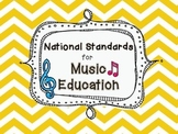 National Standards for Music Education- chevron design