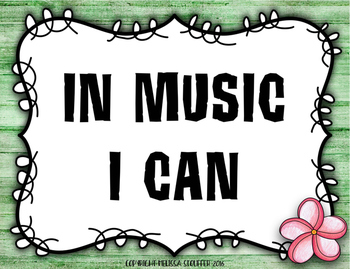 National Standards of Music Education & I Can Statement {Hawaiian Beach}