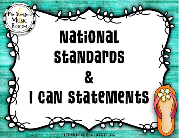 National Standards of Music Education & I Can Statement {H