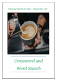 National Starbucks Day - September 29th Crossword Puzzle Word Search Bell Ringer