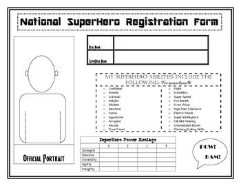National Superhero Registration Form