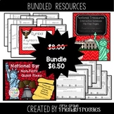 National Symbols Bundle - Interactive Notebook - Quick Sen
