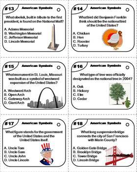 US Symbols Task Cards/ American Symbols Task Cards