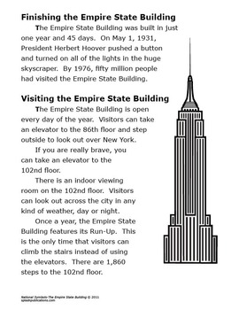 Empire State Building–National Symbols Lesson + New York Mapping Activity